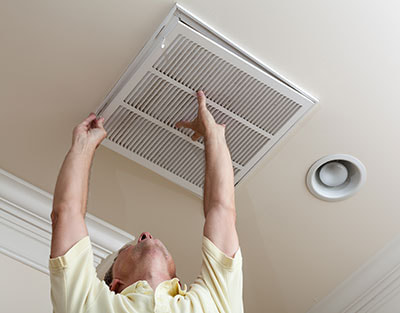 air filter replacements within home